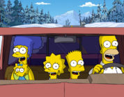 The Simpsons and Wolverine in Deadpool's Motorcade