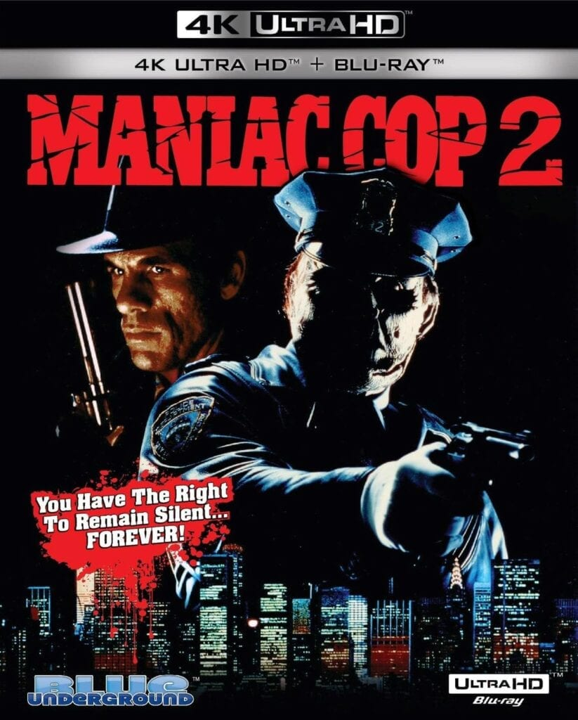 Maniac Cop 2 4K Cover Art