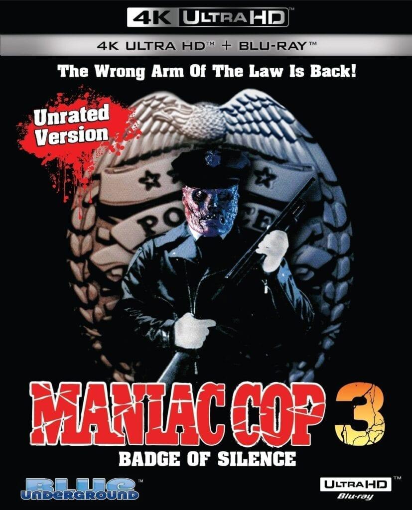 Maniac Cop 3: Badge of Silence 4K Cover Art