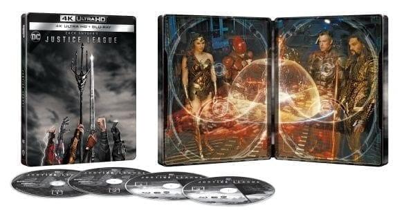Zack Snyder's Justice League 4K Steelbook Cover Art